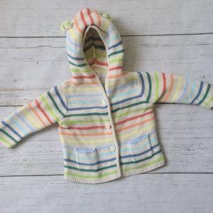 Baby GAP Striped Sweater with Ears 6-12 Months